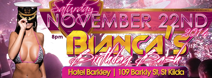 Bianca's Fly and Sexy Birthday Bash Facebook Banner Flyer Design