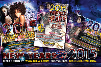 Urban New Year's Eve Flyer design Jackson MS