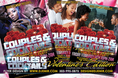 Couples And Cocktails Valentine's Day Edition Flyer Design Atlanta, Georgia