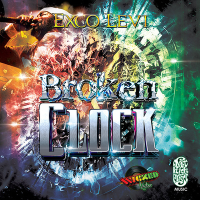 Exco Levi Broken Clock Music Single Album Cover design