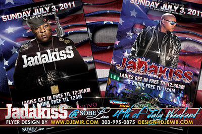 Jadakiss Concert Flyer design Sobe Live South Beach Florida