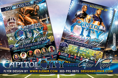 Capitol City Classic Gone Crunk After Party Flyer design