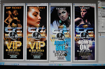 Studio Summer Grand Tickets and VIP Ticket Graphic Designs Screenshot