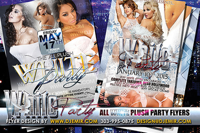 All Plush All White Party Flyer design