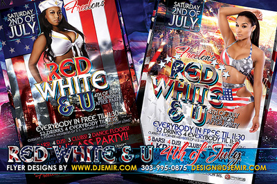 Blue, Red, White And U 4th of July weekend Flyer design Jackson Mississippi