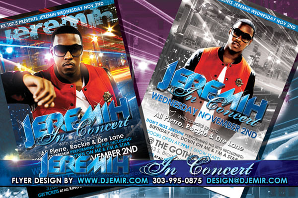 Jeremih in Concert Flyer Design Gothic Theatre Denver Colorado