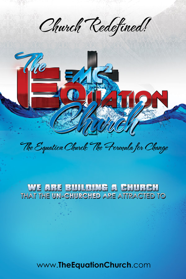 Equation Church Flyer Design with E=MC2 (Squared) Church Logo design