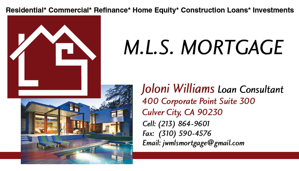 MLS Mortgage Company Realty Business Card Design Front